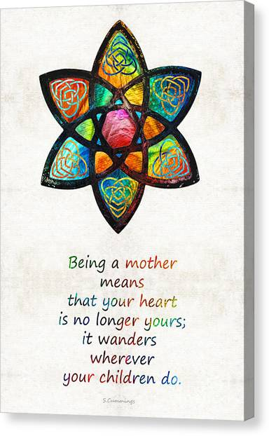 Honor Canvas Print - Mother Mom Art - Wandering Heart - By Sharon Cummings by Sharon Cummings