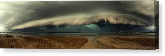 Storm Clouds Canvas Print - Mother Natures Revenge by Mel Brackstone