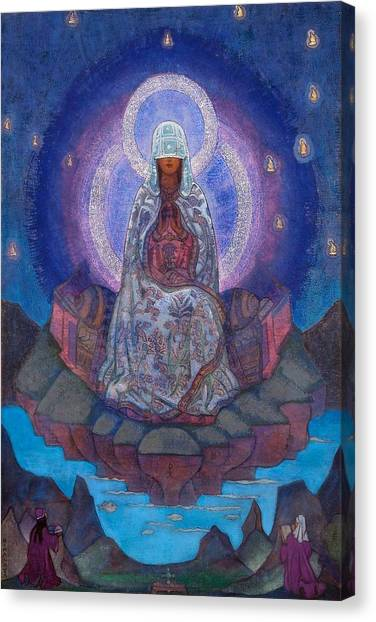 Saints Canvas Print - Mother Of The World by Nicholas Roerich