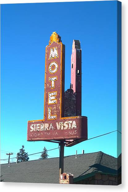 Northern Arizona University Nau Canvas Print - Mother Road Motel by Joshua House
