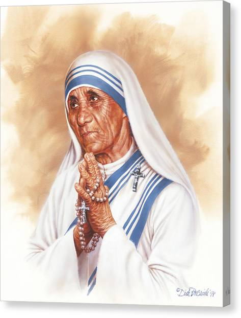 Nuns Canvas Print - Mother Teresa by Dick Bobnick