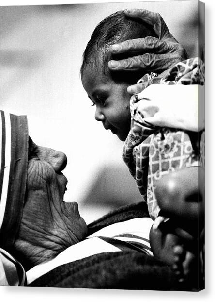 Retro Canvas Print - Mother Teresa Holds Baby by Retro Images Archive