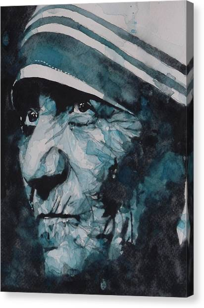 Roman Art Canvas Print - Mother Teresa by Paul Lovering