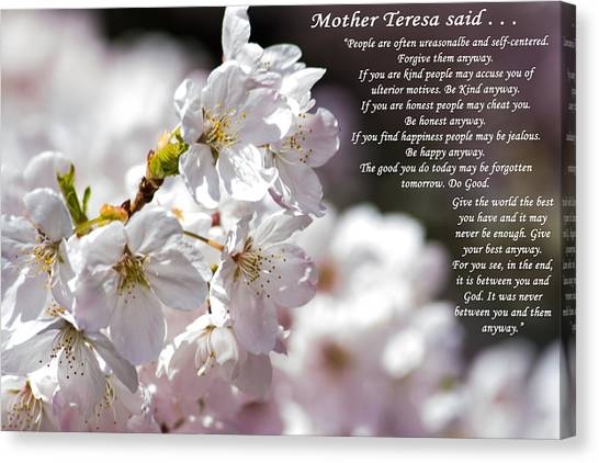 Mother Teresa Said Canvas Print
