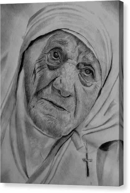 Mother Theresa-close Up Canvas Print