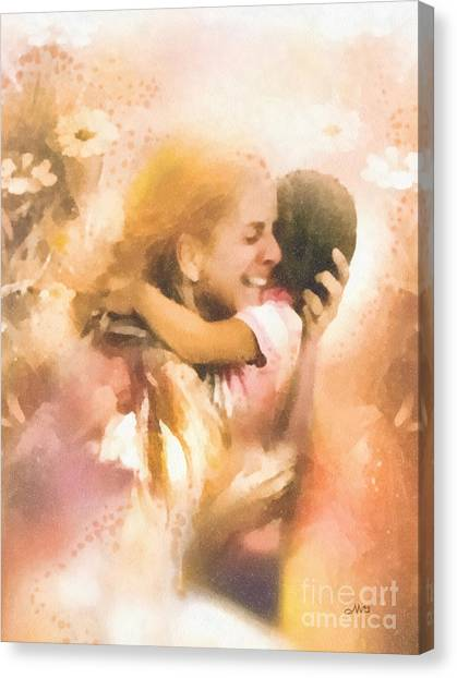 Missing Child Canvas Print - Mother's Arms by Mo T