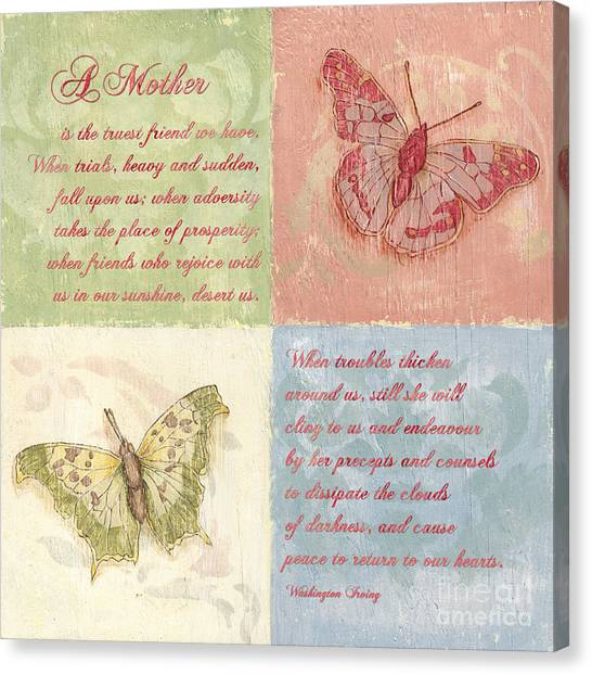 Mom Canvas Print - Mothers Day Butterfly by Debbie DeWitt