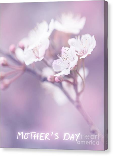 Mother's Day Greeting Card Canvas Print