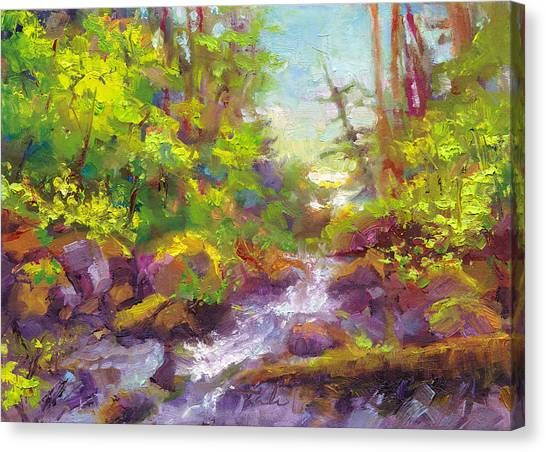 Mother's Day Oasis - Woodland River Canvas Print