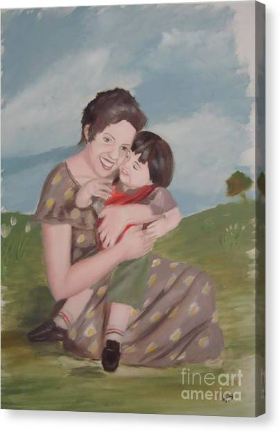 Mother's Love Canvas Print by Angela Melendez