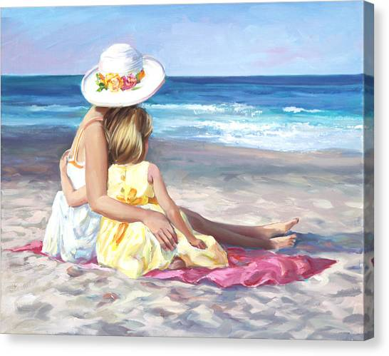 Big Sister Canvas Print - Mother's Love by Laurie Hein