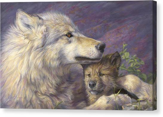 Love Canvas Print - Mother's Love by Lucie Bilodeau