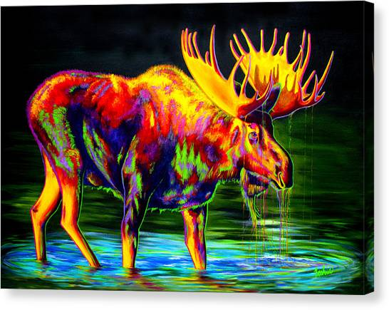 Moose Canvas Print - Motley Moose by Teshia Art