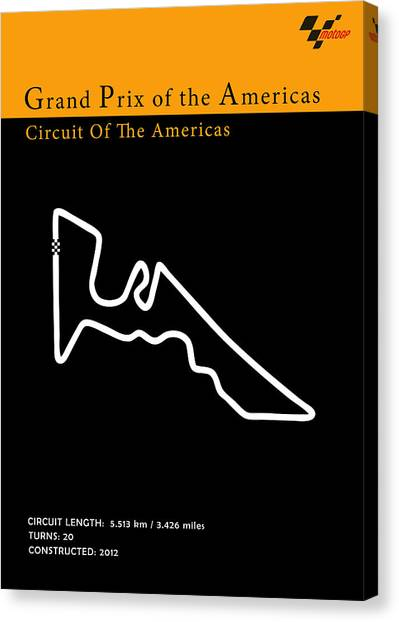 Yamaha Canvas Print - Moto Gp Of The Americas by Mark Rogan