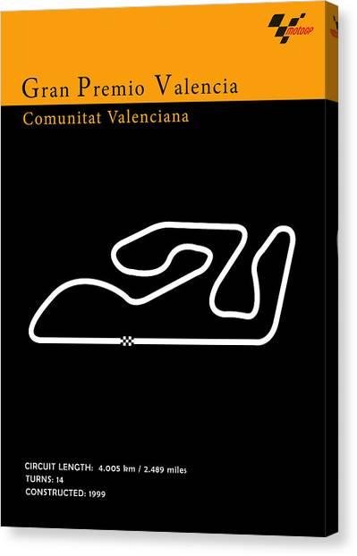 Yamaha Canvas Print - Moto Gp Valencia by Mark Rogan