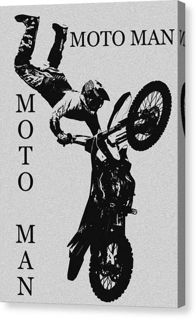 Dirt Bikes Canvas Print - Moto Man by David Lee Thompson