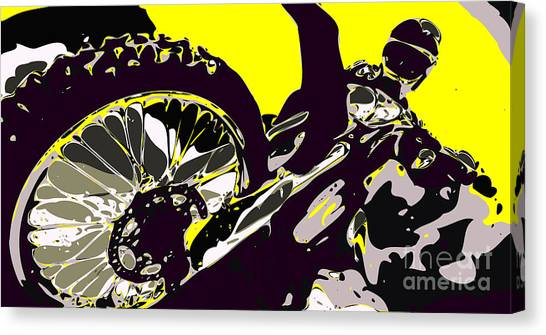 Motocross Canvas Print - Motocross by Chris Butler