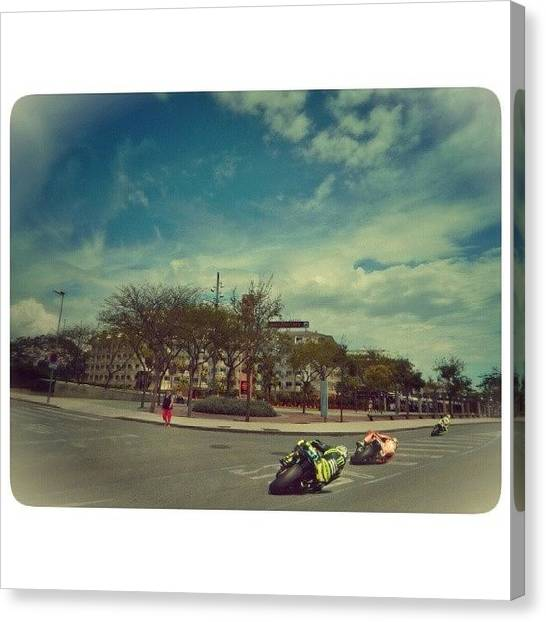 Yamaha Canvas Print - Motogp Roadracers, Santa Susanna... If by Robert Campbell