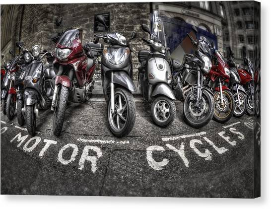 Motorcycle Canvas Print - Motor Cycles by Evelina Kremsdorf