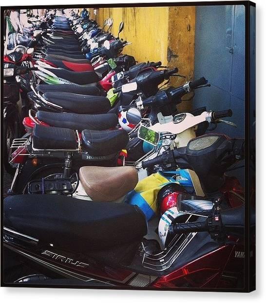 Law Enforcement Canvas Print - #motorbike #saigon #hochiminh #scooter by Darren O' Dea