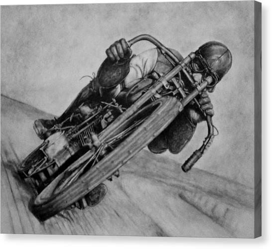 Motorcycle Man Canvas Print