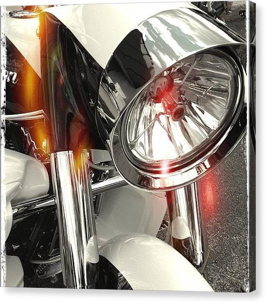 Bicycle Canvas Print - #motorcycle #motorcycles by Mike Maher