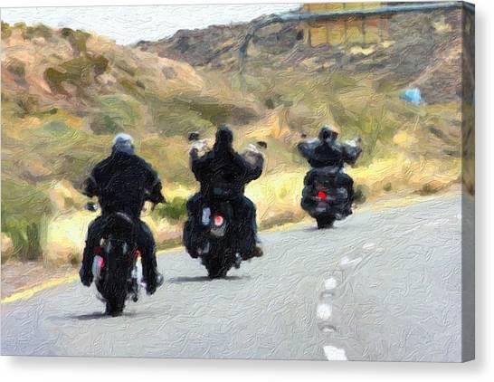 Fun Run Canvas Print - Motorcycle Road Trip  by Gravityx9  Designs