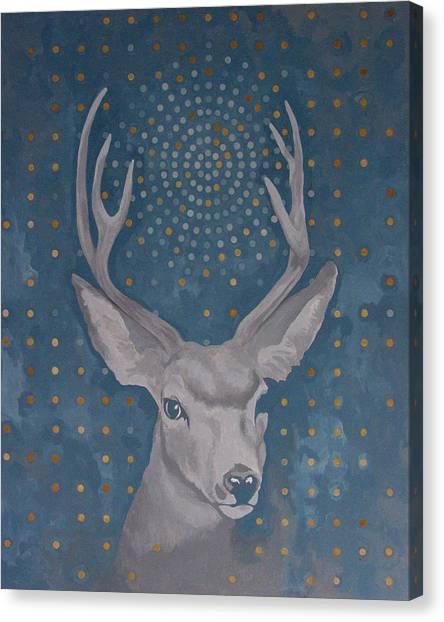Antlers Canvas Print - Motorlegs by Sandra Cohen