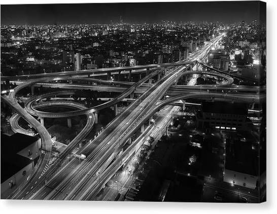 Highways Canvas Print - Motorway by Koji Sugimoto