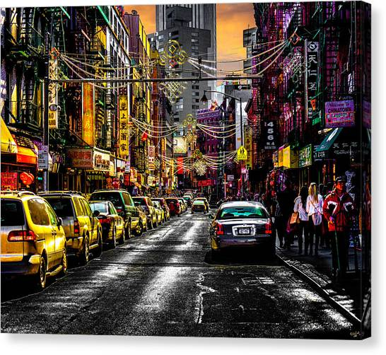 Canvas Print featuring the photograph Mott Street by Chris Lord