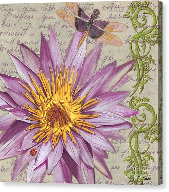 Ladybugs Canvas Print - Moulin Floral 1 by Debbie DeWitt