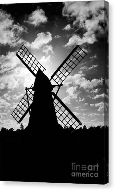 Moulin Noir- Monochrome Canvas Print