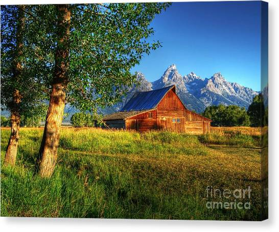 Canvas Print featuring the photograph Moulton's Barn 3 by Mel Steinhauer