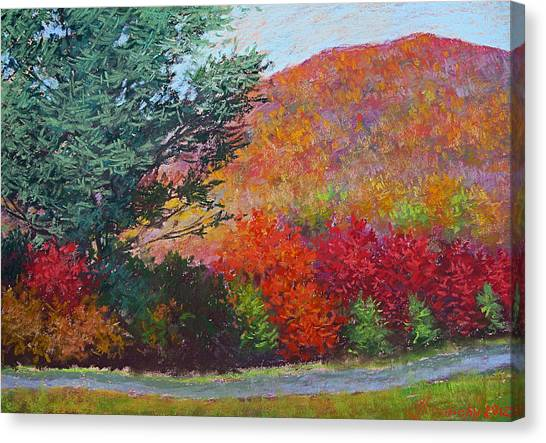 Moungtains In September Canvas Print by Julia Lesnichy