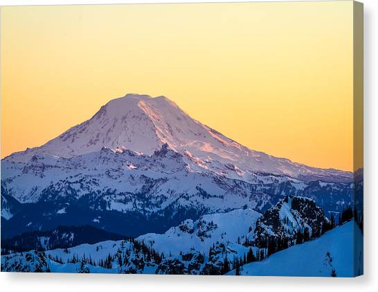Mount Adams Sunset Canvas Print