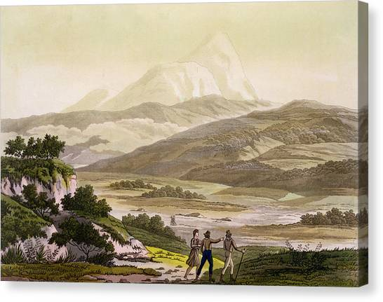 Andes Mountains Canvas Print - Mount Cayambe, Ecuador, From Le Costume by Friedrich Alexander, Baron von Humboldt