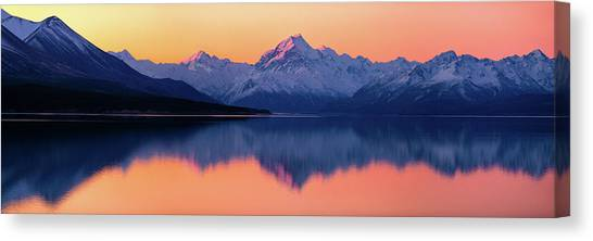 Lake Sunsets Canvas Print - Mount Cook, New Zealand by Artistname
