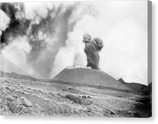 Mount Etna Canvas Print - Mount Etna Eruption by Library Of Congress