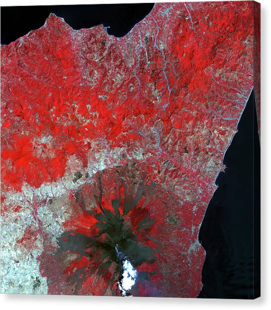 Mount Etna Canvas Print - Mount Etna by Nasa/science Photo Library