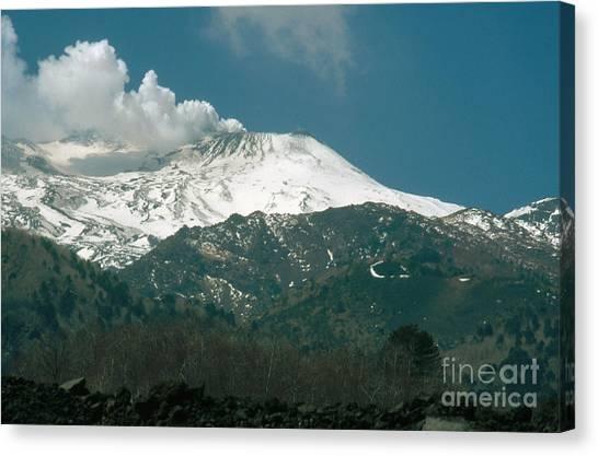 Mount Etna Canvas Print - Mount Etna, Sicily, Italy by Catherine Ursillo