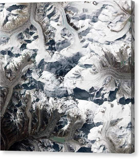 Mount Everest Canvas Print - Mount Everest by Nasa Earth Observatory