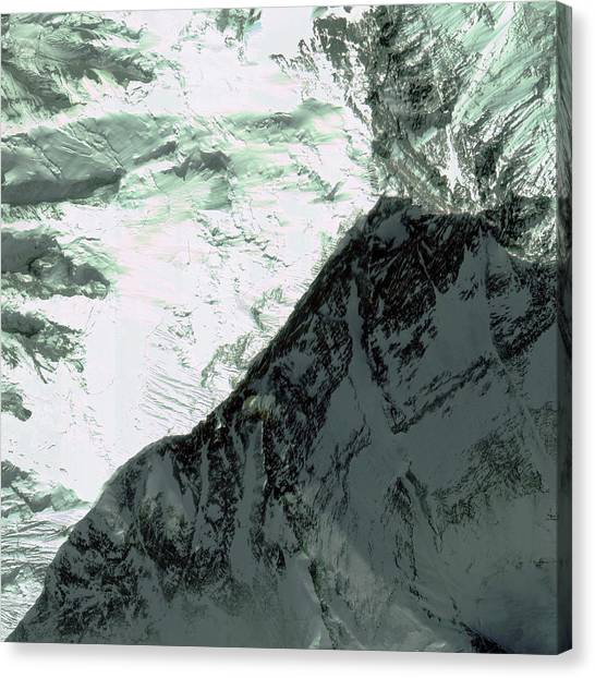 Mount Everest Canvas Print - Mount Everest Summit by Geoeye/science Photo Library