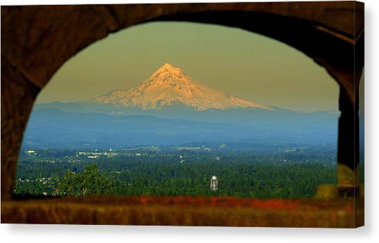 Mount Hood Framed Canvas Print by DerekTXFactor Creative