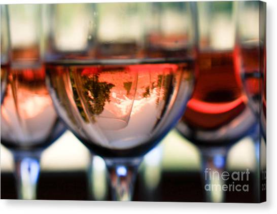 Mount Hood In A Wine Glass Canvas Print by Cari Gesch
