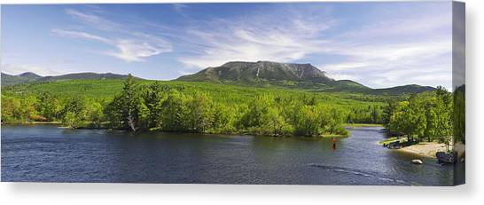 Mount Katahdin And The West Branch  Canvas Print