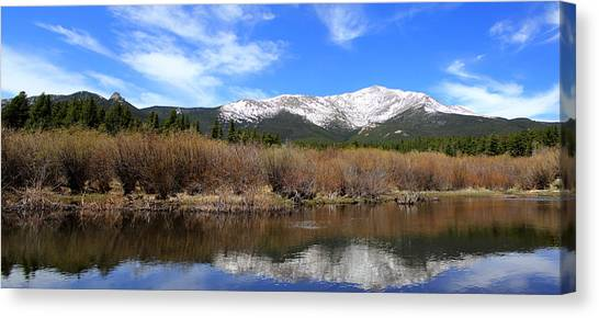 Mount Meeker - Panorama Canvas Print