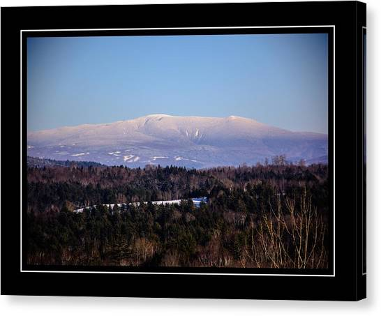 Mount Moosilauke Snowy Blanket Canvas Print