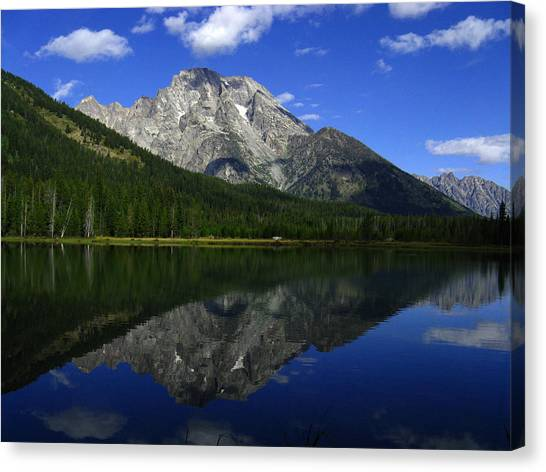 Mount Moran And String Lake Canvas Print