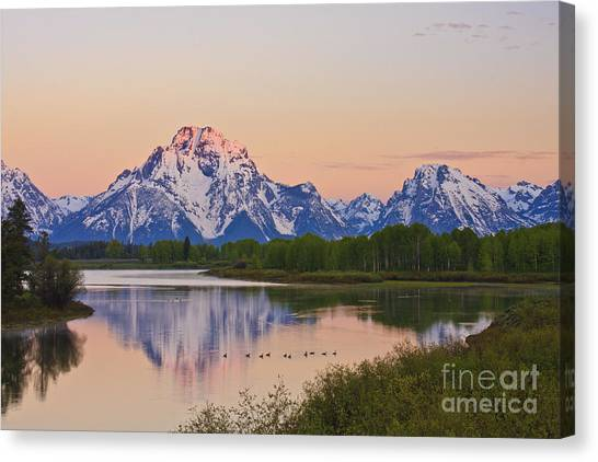 Mount Moran Sunrise Canvas Print