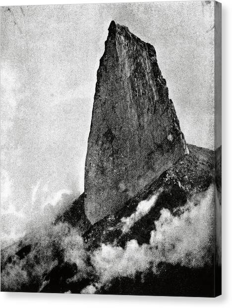 Mount Pelee Canvas Print - Mount Pelee's Collapsed Lava Dome by Royal Astronomical Society/science Photo Library